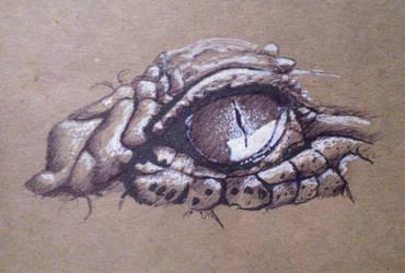 Croc Eye by JosueMariscal