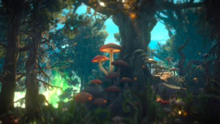 The Witcher III Fantasy Landscape wallpaper by BlackLotusXX