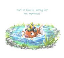 Motivational fish by el7doodles