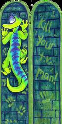 Gex Bookmark by 8-Bit-Britt