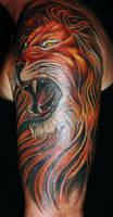 Lion Tattoo by Ralf-Amun