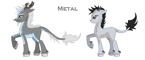 MLP FIM: Metal Qilin Commission by SaturnGrl