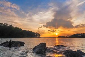 Sunset over Lake Lanier by rctfan2