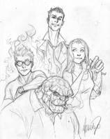 Fantastic Four sketch by 0boywonder0