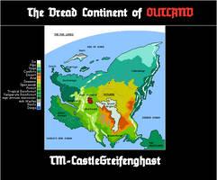 Fantasy Map-Outland by CastleGreifenghast