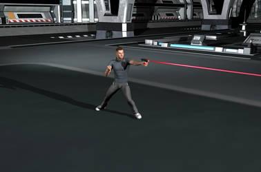 Hand-Laser Gun Test (Updated) by KnightTek