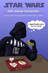 Vader At McDonalds by spiritwolf77