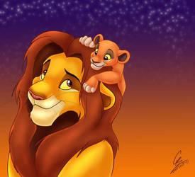 Simba and Kiara by spiritwolf77