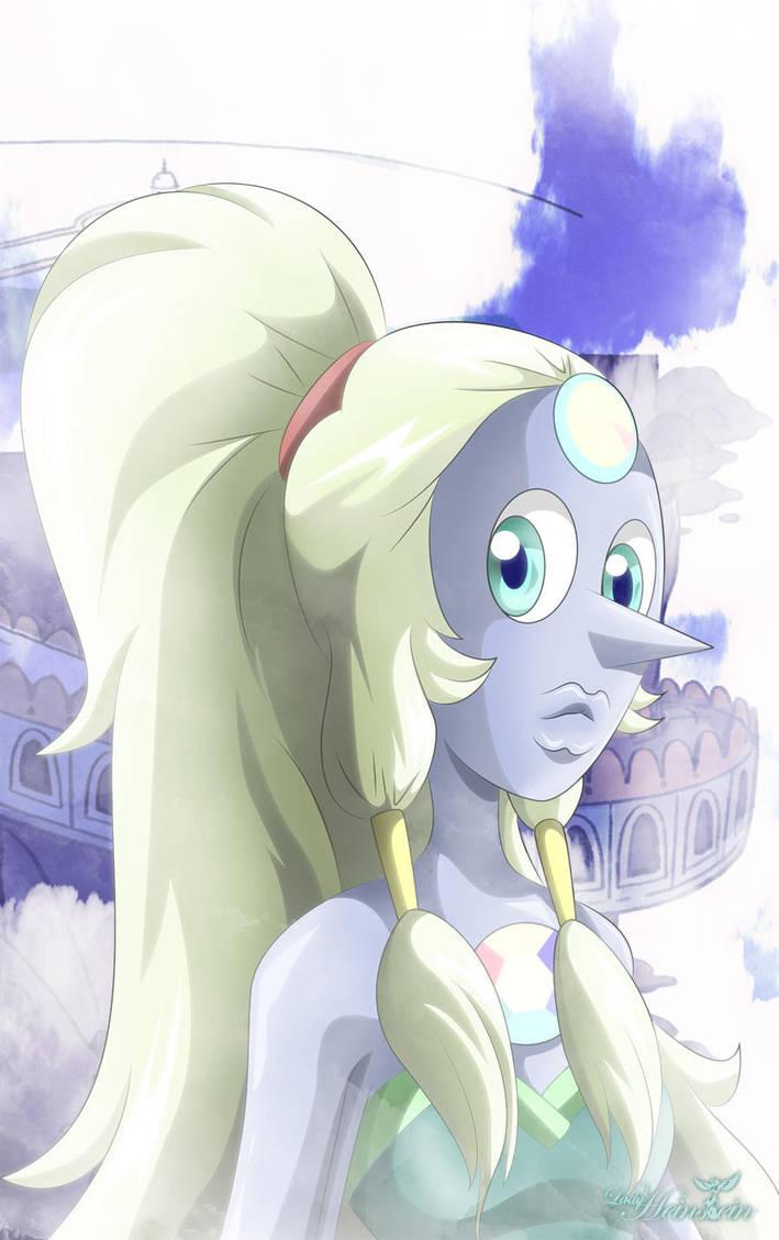Opal(Tambiénconocida comoÓpalo o Mujer Gigante)es la gema resultado de lafusiónentrePerla y Amatistaenla serieSteven Unive...