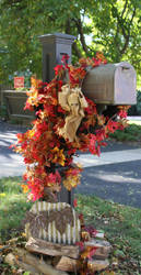 Falltime Mailbox by lighthousesociety