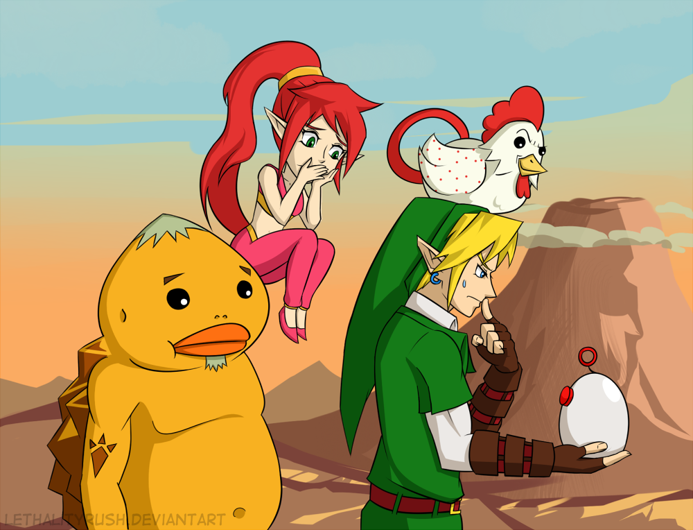 Genie girls and Cucco grenades by Lethalityrush