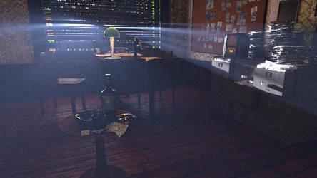 Room Night Scene Test Render by Ramdabam