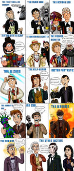 Doctor Who throughout the ages by Luke-the-F0x