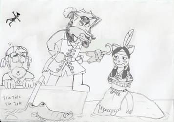 Fairytale Art Jam: Tigerlilly's capture. by Luke-the-F0x