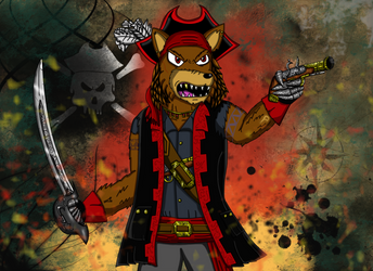 Giftart: The Dread Pirate Scurvy by Luke-the-F0x