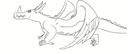 Feather-Wing Dragon: Uncolored by muntu1221