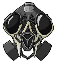 Skull Gas Mask by DotCommunist