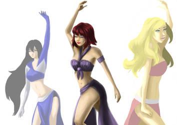 Hanard , Bru and a girl/ Dancers by Brudens