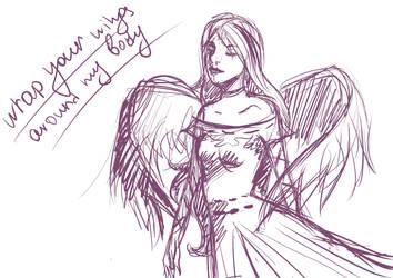Piwy angel sketch by Brudens