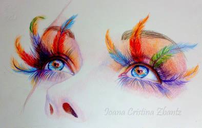 Rainbow eyes by LilDevilAriel