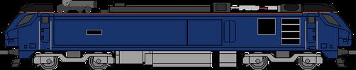 DRS Class 88 w-pantograph down by WestRail642fan