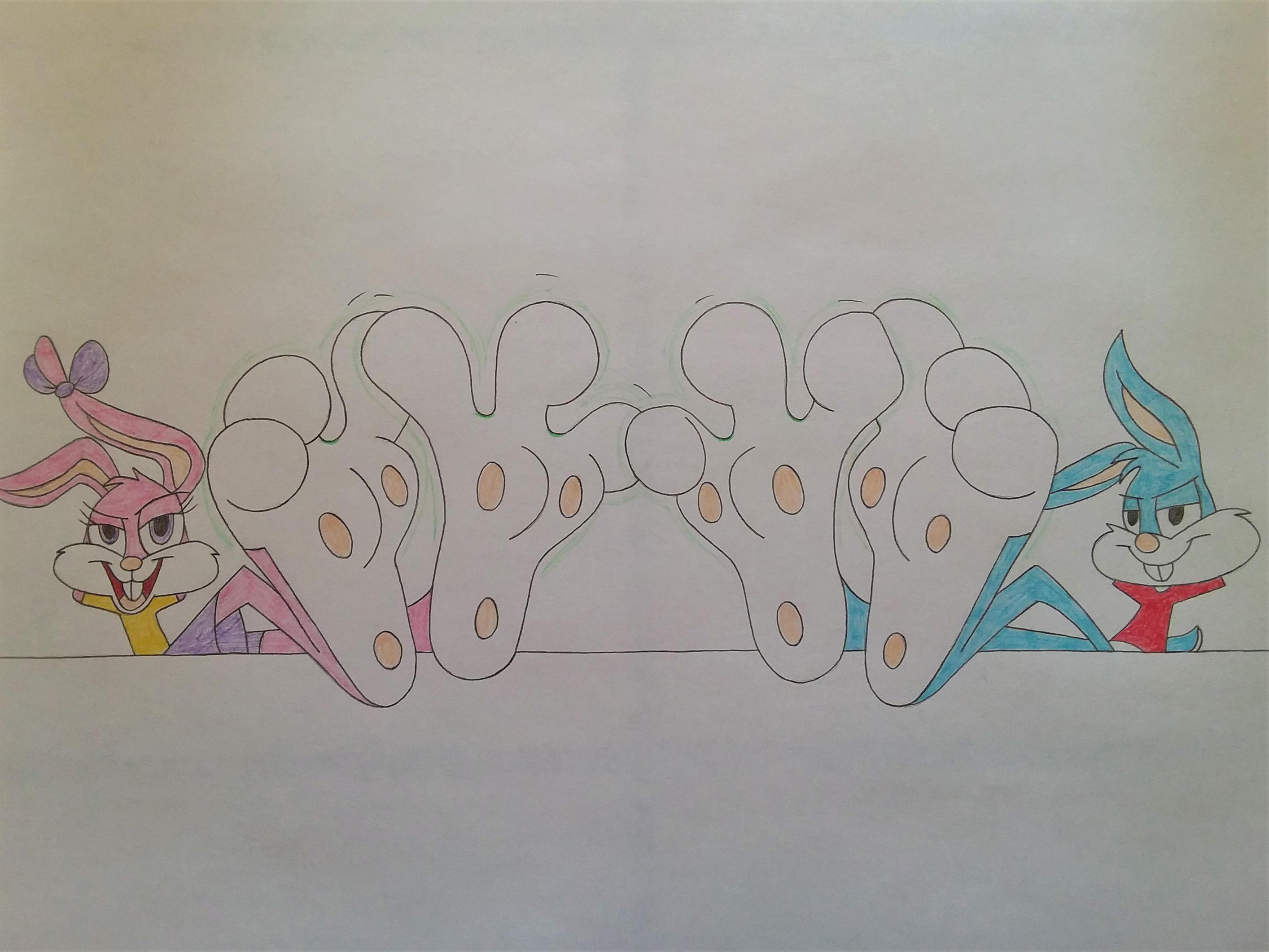 Darienspeyer Feet: Sexiest Feet Groups: Babs And Buster Bunny By DarienSpeyer