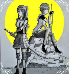 Kairi and Diamond ::element soul by Blackground13