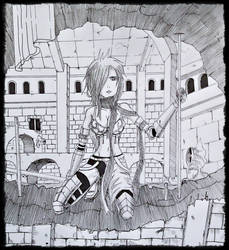 Erza Scarlet :: Fairy tail page reff. by Blackground13