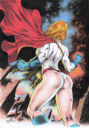 Power Girl by DLimaArt