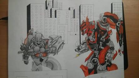 Transformers fanart (WIP) by Neravi