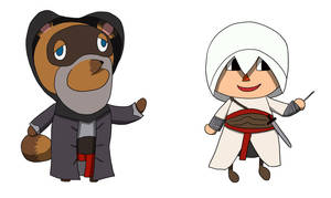 Assassin's Crossing - Tom Nook and Altair by Plusichan