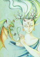 dragon's spirit by FoxSagebrush