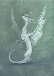 white dragon by FoxSagebrush