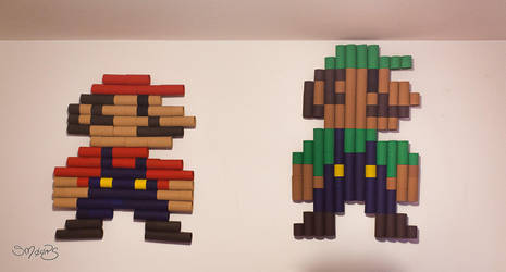 Mario bros toilet paper rolls art by sm00ps
