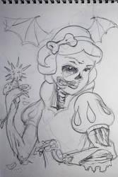 white snow zombi sketch by sm00ps