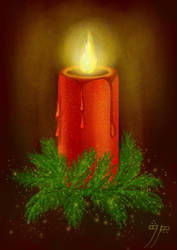 Just a holiday candle :) by Aladorra