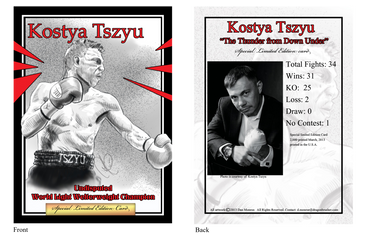 Kostya Tszyu Collectors Trading Card by Dragonbrush