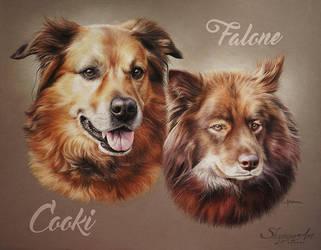COOKI et FALONE by Skyzune ART by SKYZUNE-CREATION