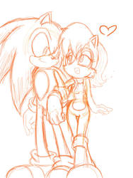 Sonally sketch by SonicMiku
