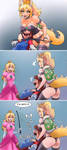 Bowsette and Peach Dark Secrets by Adyon