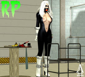 Black Cat restrained by MndlessEntertainment