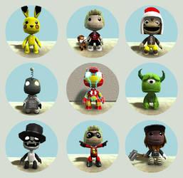 My LittleBIGPlanet customs by midnightheist