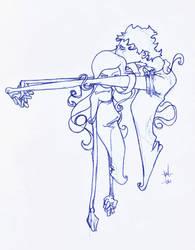a hug by dinocat