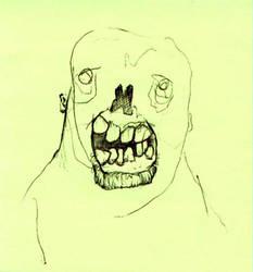 Post it Zombie by dinocat