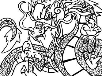 Dragon sketch by izze-bee