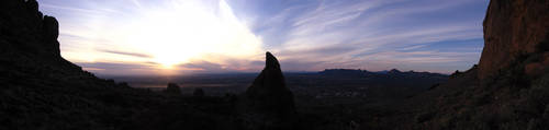 Superstition Mountain Sunset by eRality