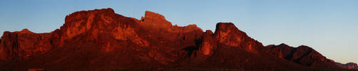 Red Superstition Mountain by eRality