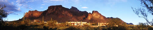 Superstition Mountain Sunset 2 by eRality