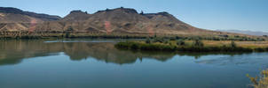 Guffey Butte and the Snake River by eRality