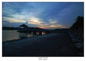 Sunset At Pierce by markeatworld